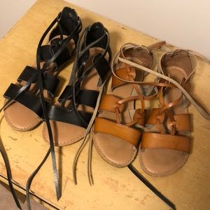 Set of Old Navy Lace Up Sandals